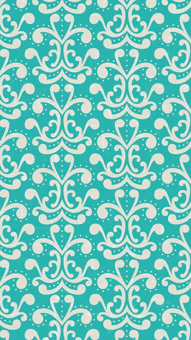 緑のガーリーパターン iPhone壁紙