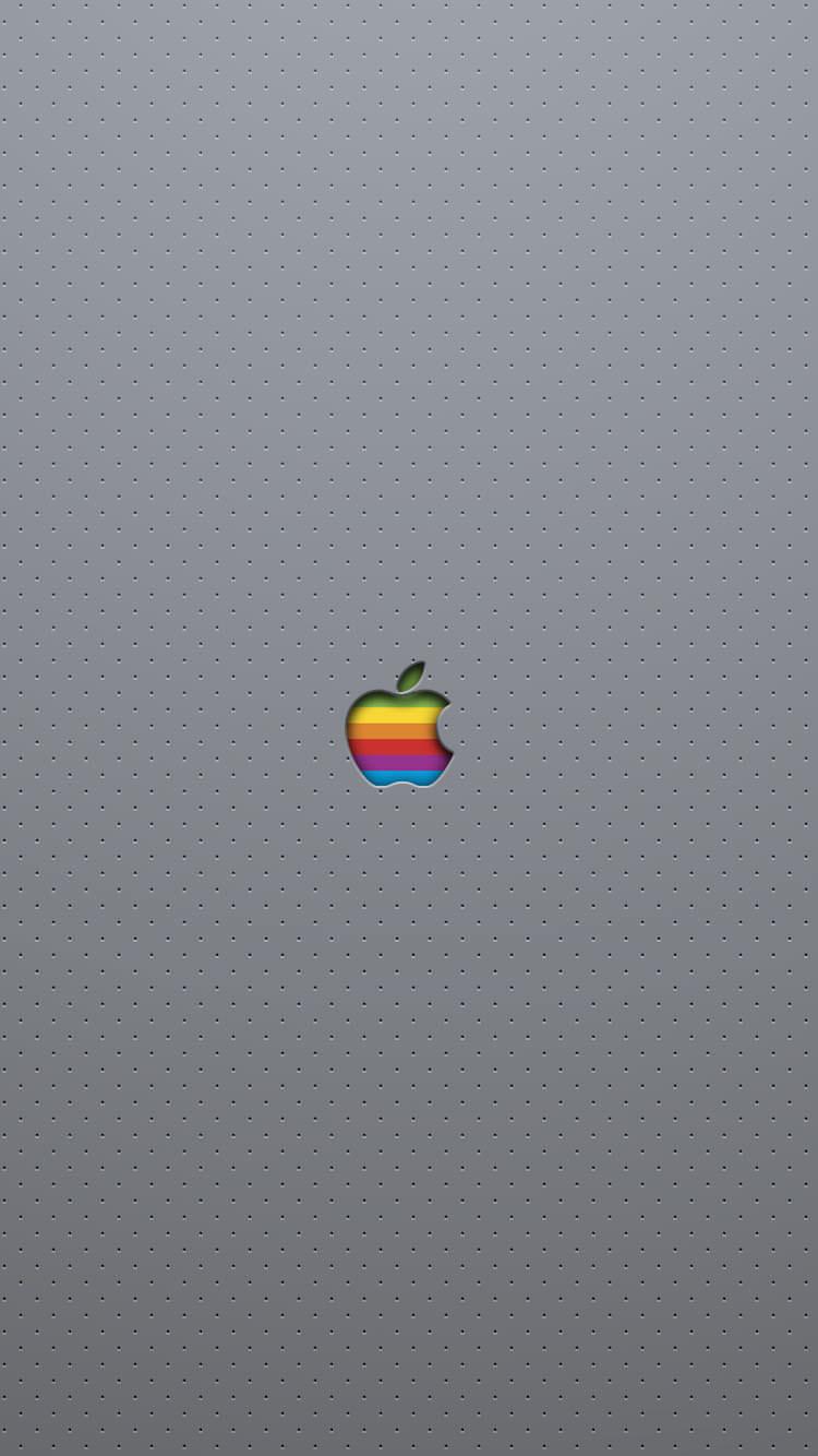 穴の開いたネイビー iPhone6 壁紙