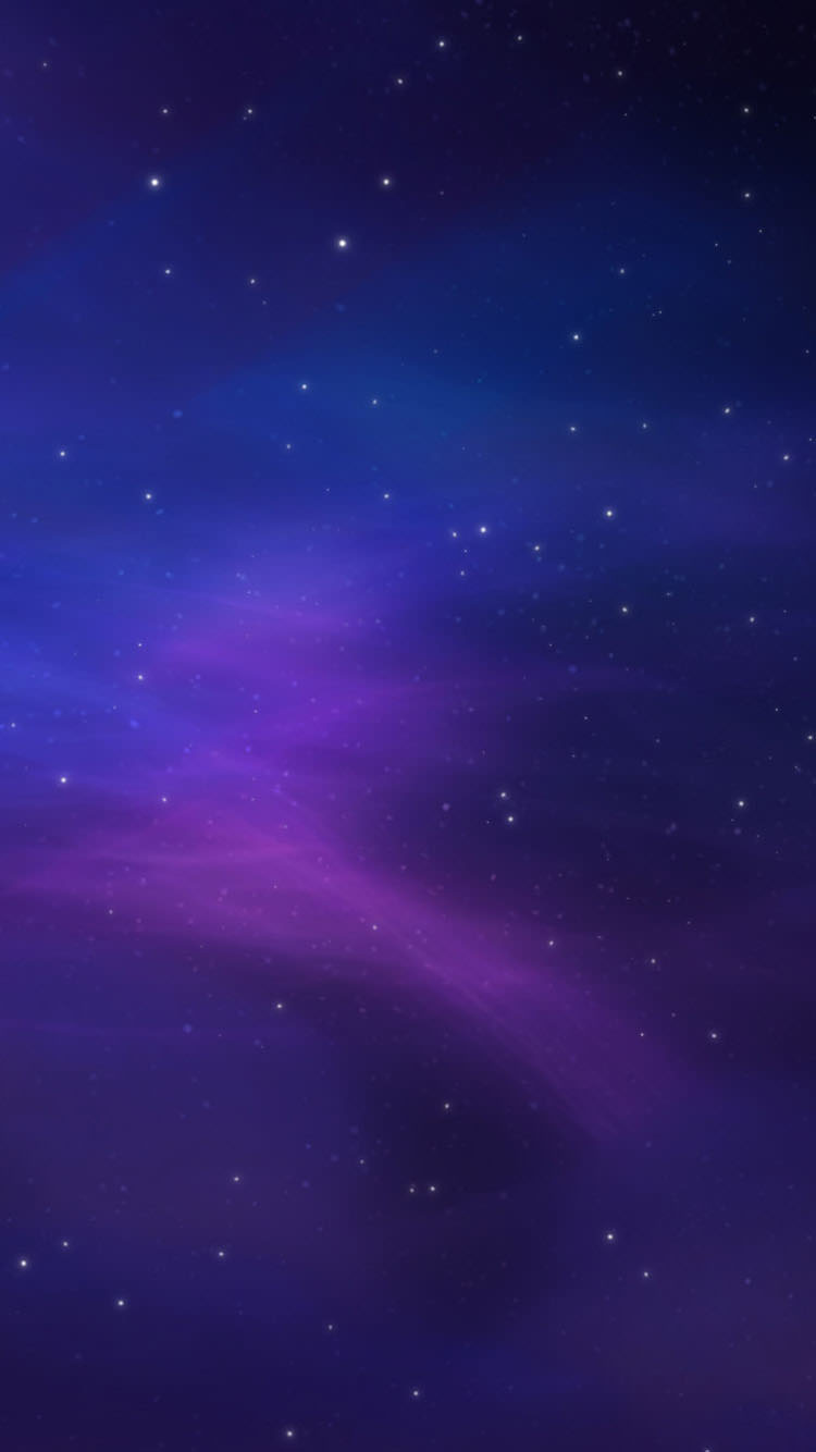 紫の夜空 iPhone6 壁紙
