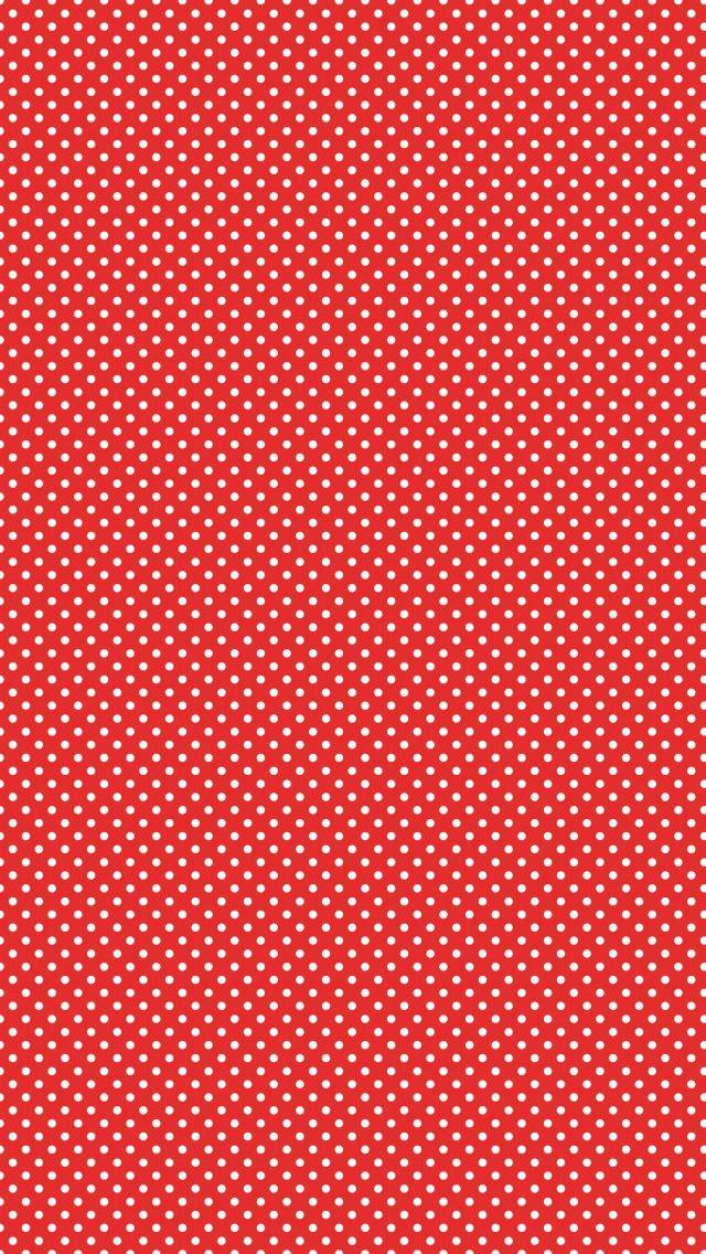 かわいい赤のドット iPhone5 壁紙