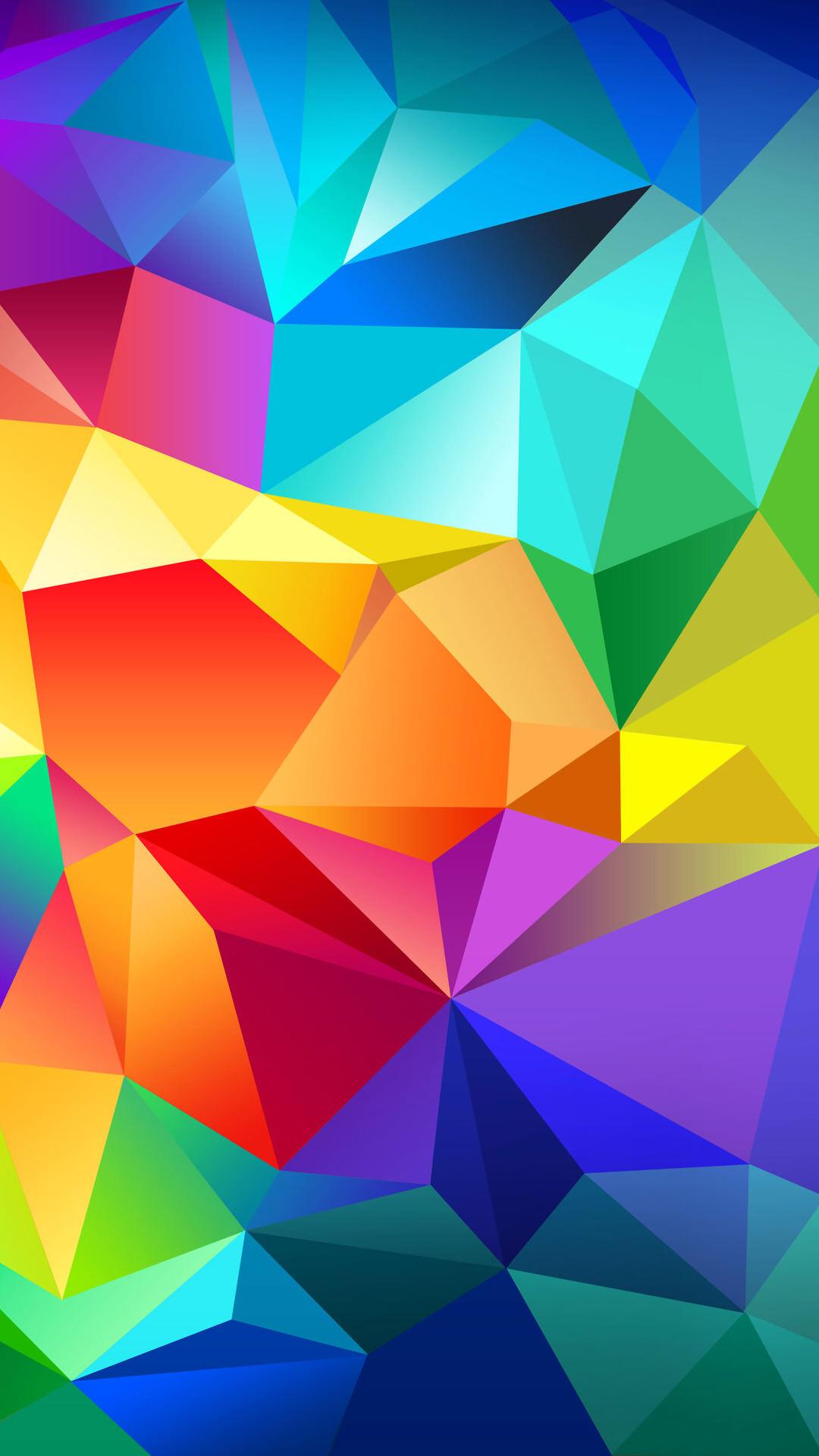 カラフルなモザイクタイル iPhone6 Plus 壁紙