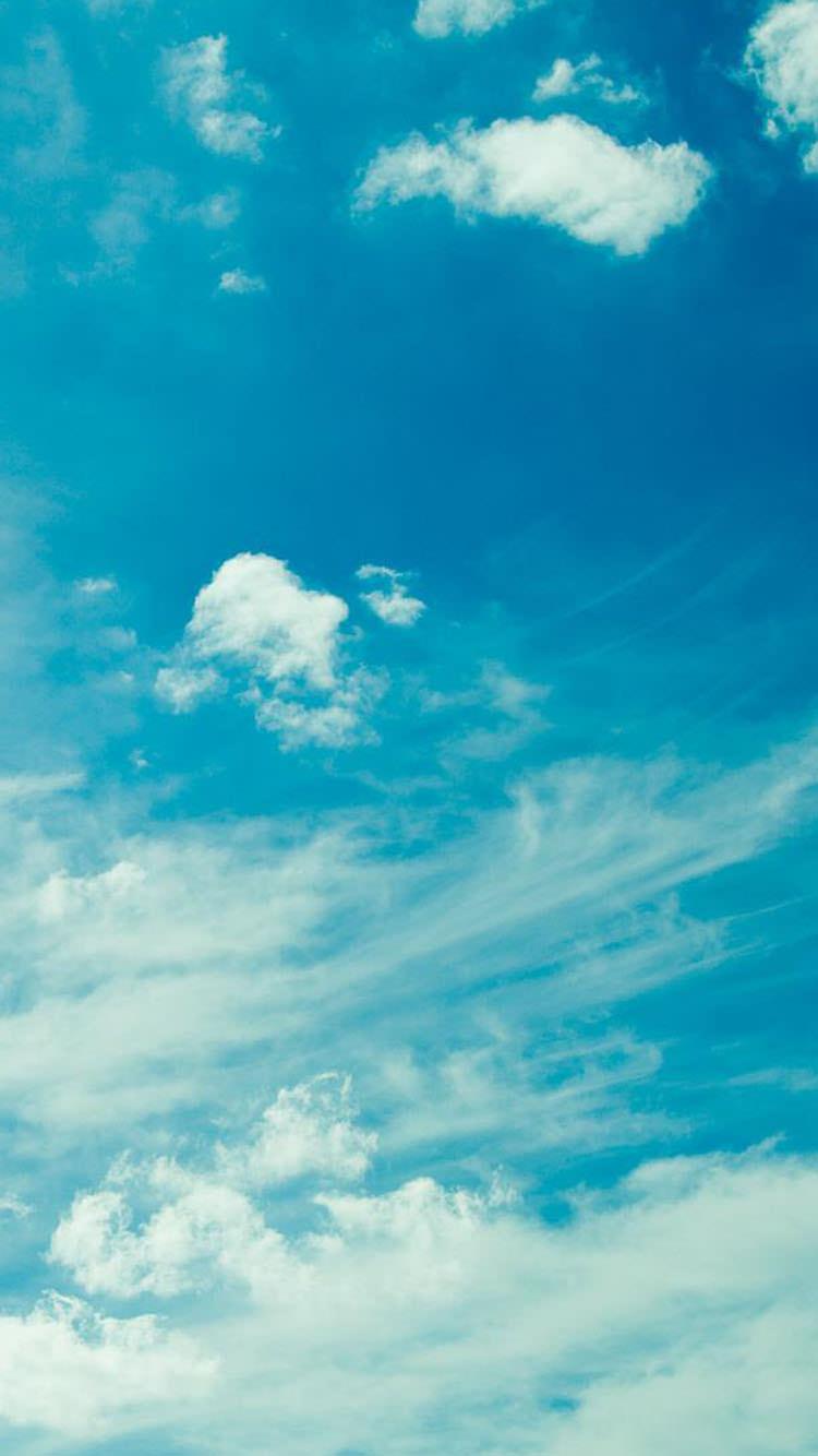 夏の日の青空 iPhone6 壁紙