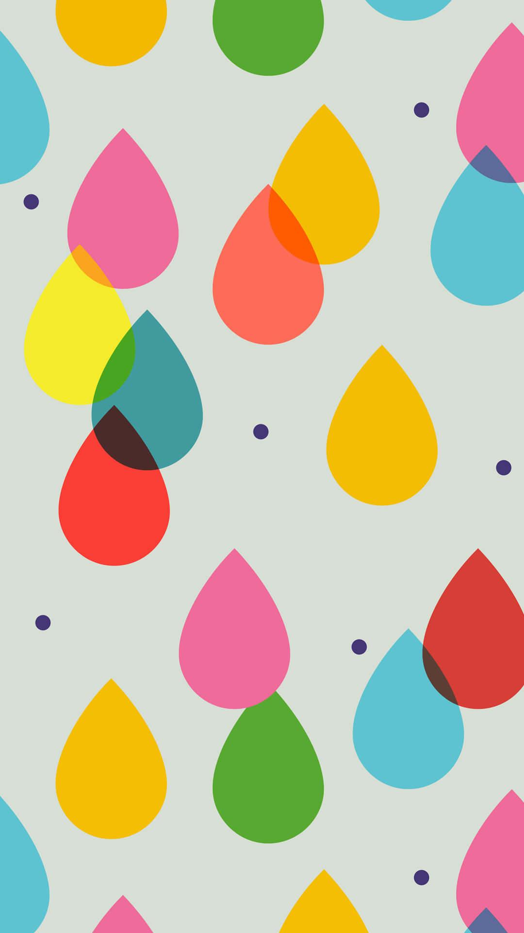 カラフルドロップ iPhone6 Plus 壁紙