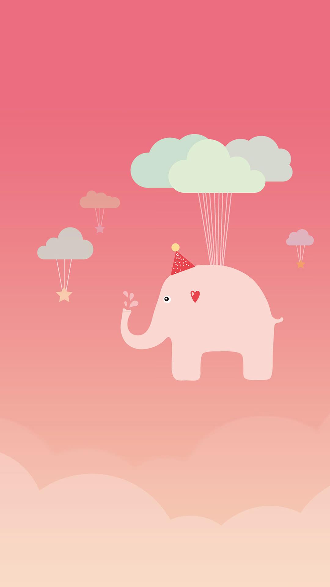 空飛ぶ象さん iPhone6 Plus 壁紙