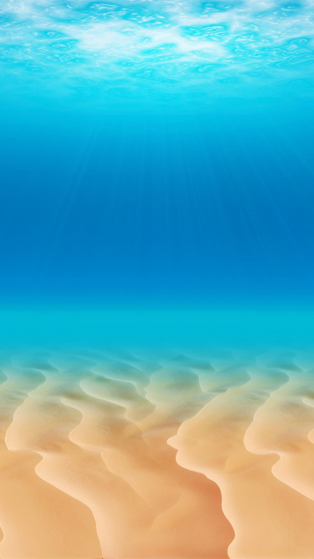 澄んだ海の中 iPhone6 Plus 壁紙