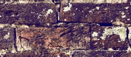 朽ちたレンガ iPhone5壁紙