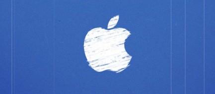手書き風のアップルロゴ iPhone6 壁紙