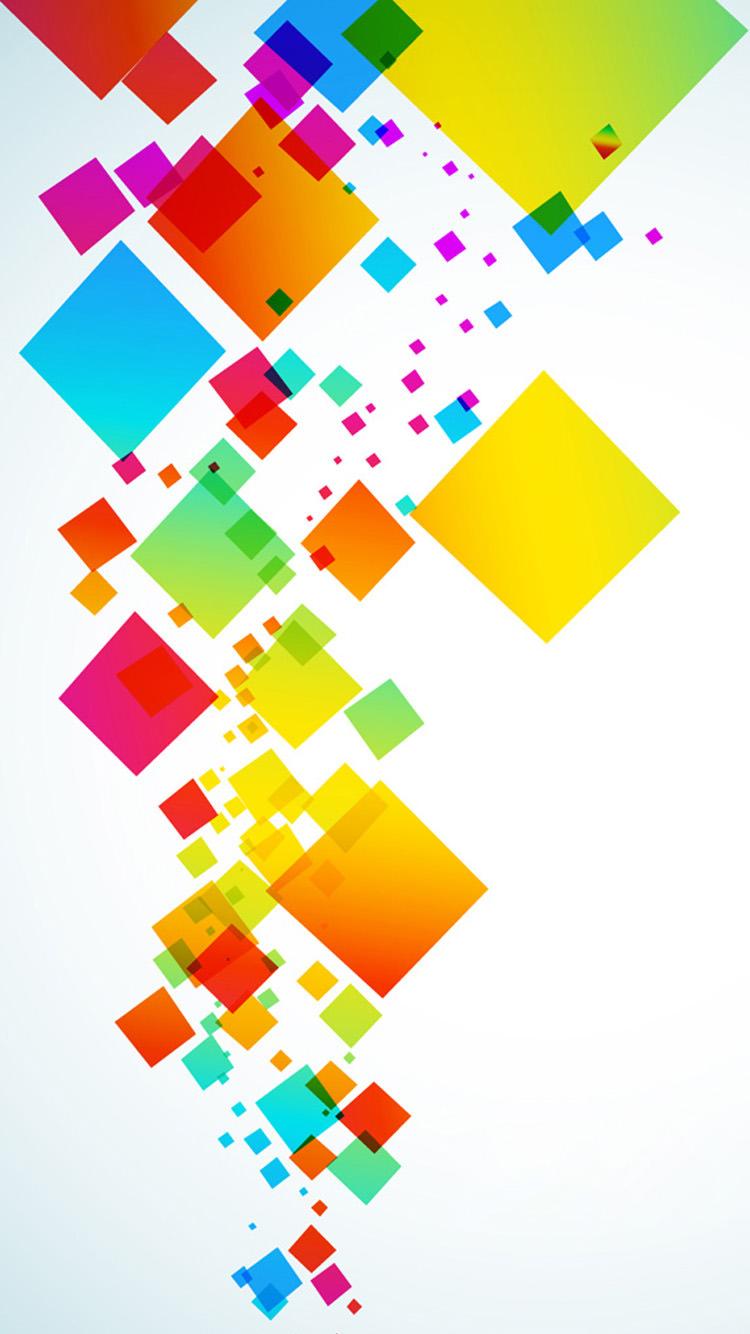 カラフルなキューブ iPhone6 壁紙