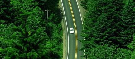 見下ろす道路 iPhone6 壁紙