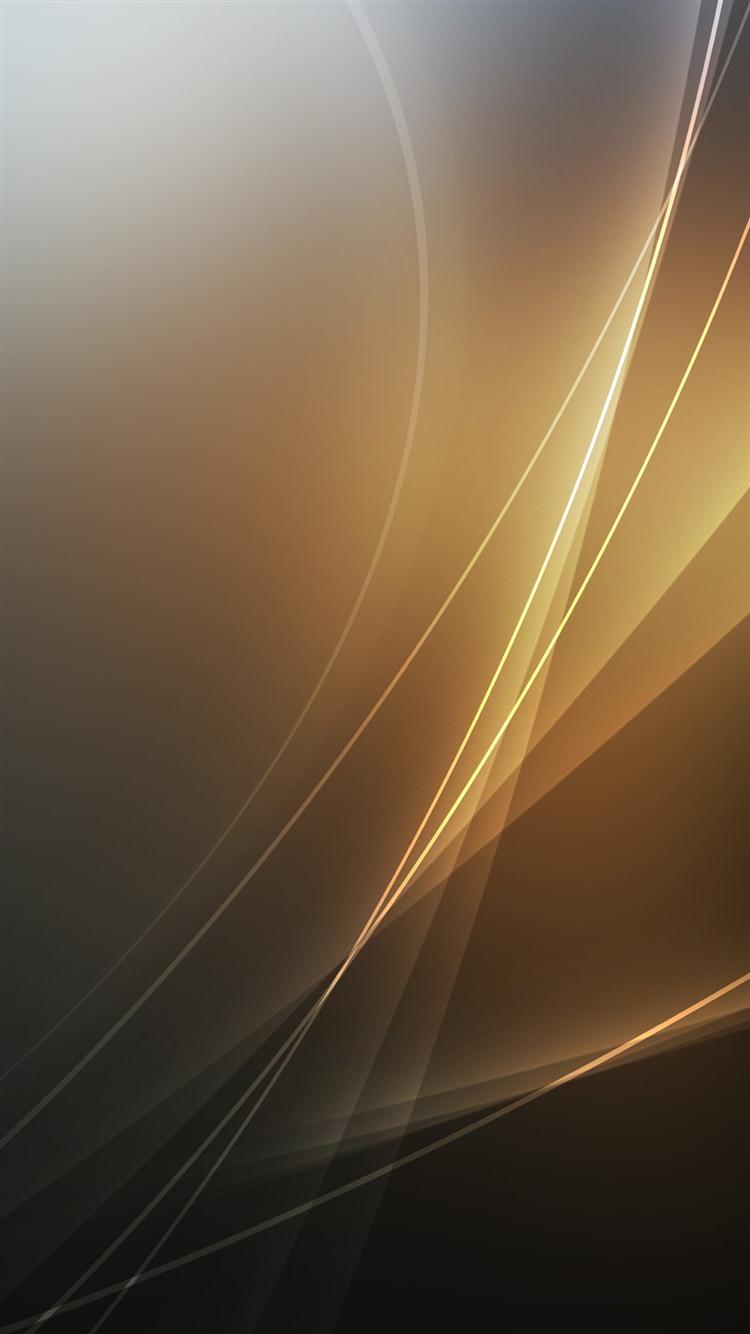 金色の波線 iPhone6 壁紙