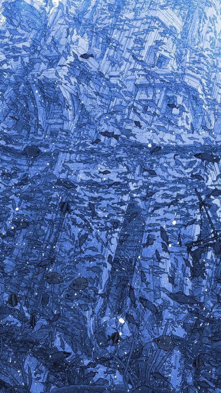 青のモーメント iPhone6 壁紙