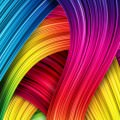 カラフルなうねり iPhone6 Plus 壁紙
