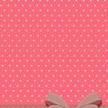 ピンクの水玉とリボン iPhone5壁紙