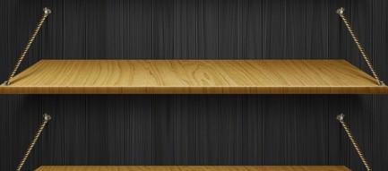 スタイリッシュな黒の棚 iPhone5壁紙