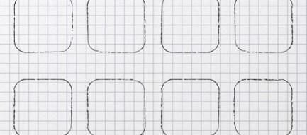 シンプルな方眼紙 iPhone5壁紙