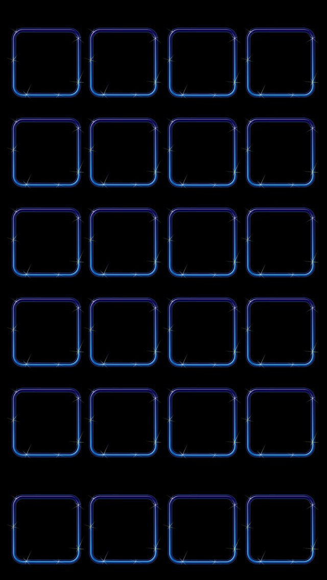 青く光る枠 iPhone5壁紙