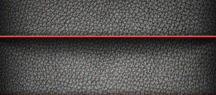 赤いボーダーの入ったレザー iPhone5壁紙