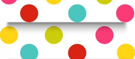 カラフルな水玉の棚 iPhone5壁紙
