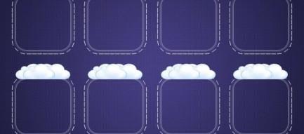 雲とフレーム iPhone5壁紙