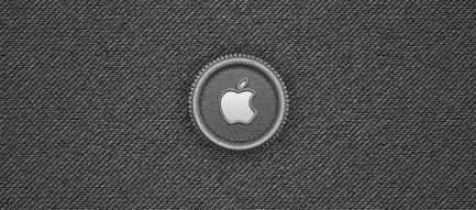 ダークグレーのアップル iPhone5壁紙