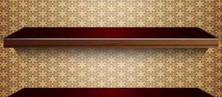 高級感のあるブラウンの棚 iPhone5壁紙