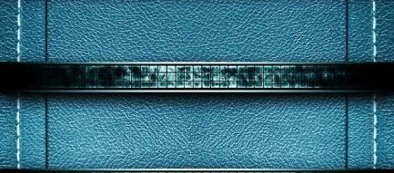 ブルー・レザー iPhone5壁紙
