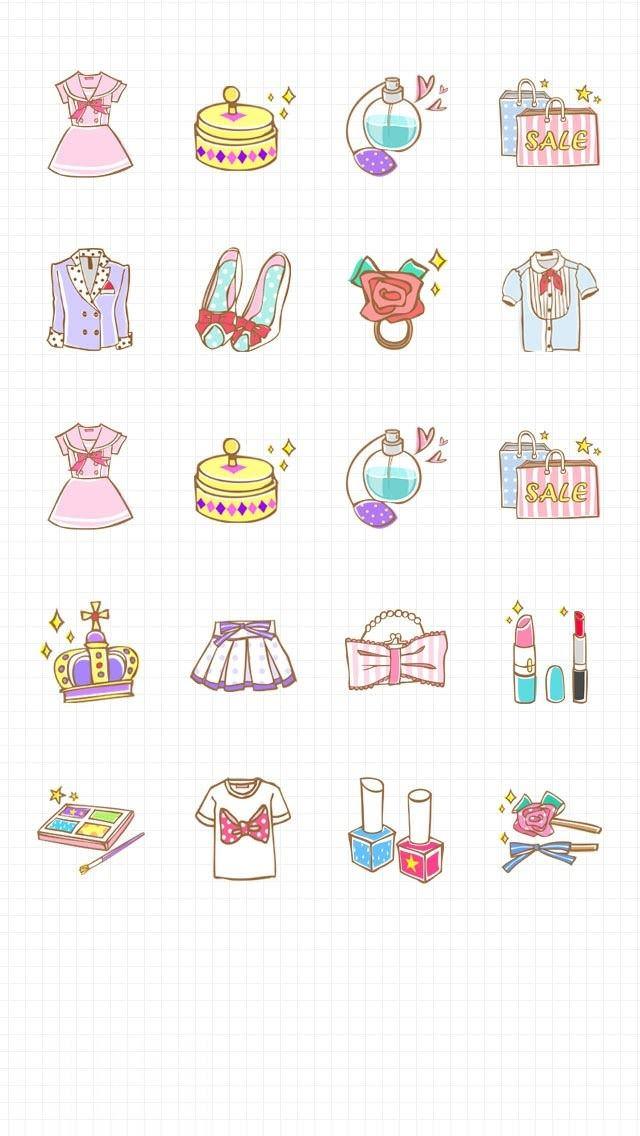 ガーリーなかわいいiPhone5壁紙