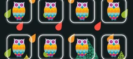 フクロウ iPhone5壁紙