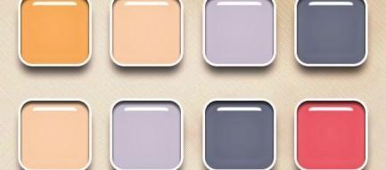 カラフルパレット iPhone5壁紙