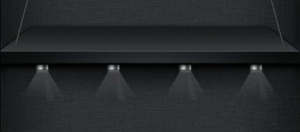 スタイリッシュな照明付きの黒の棚 iPhone5壁紙