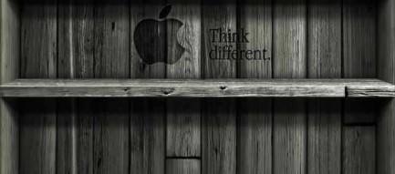 グレースケール棚 iPhone5壁紙