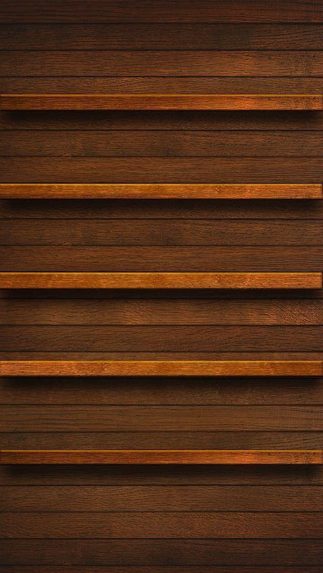 フラットな木目調 iPhone5壁紙