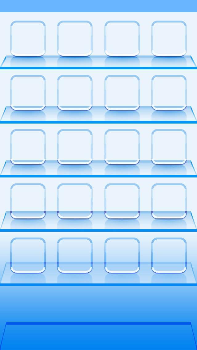 青いガラスの棚 iPhone5壁紙