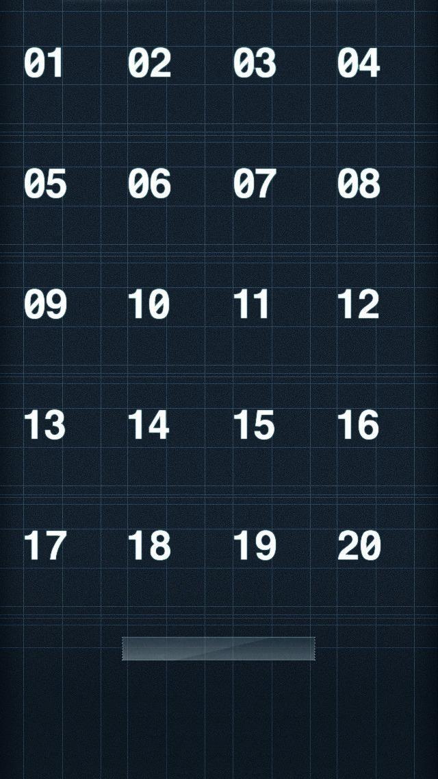 番号付き群青色のiPhone5壁紙