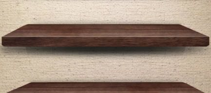 落ち着いたウッド調の棚 iPhone5壁紙