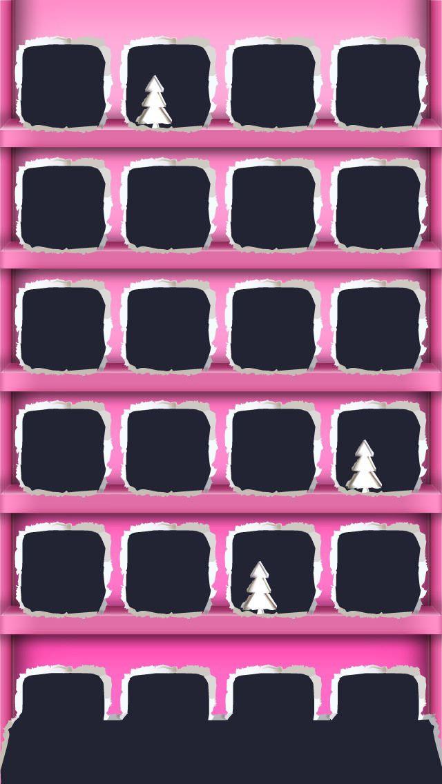 ピンク クリスマスツリー iPhone5壁紙