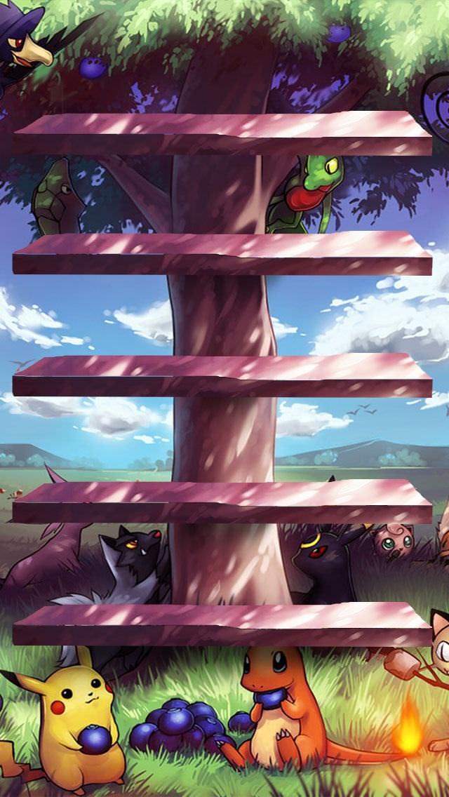 ポケモンの棚 iPhone5壁紙
