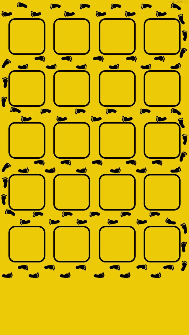 並んだ足跡 iPhone5壁紙