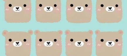 かわいいクマちゃん iPhone5壁紙