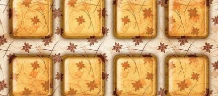 茶色のフローラル iPhone5壁紙