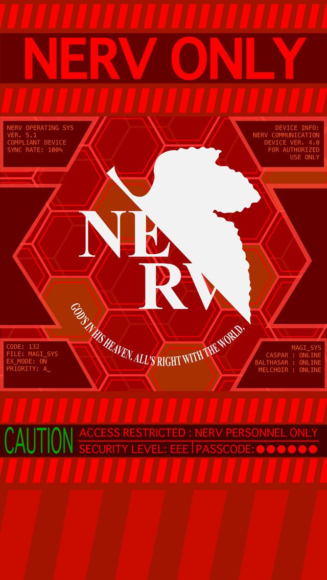 エヴァ NERV iPhone5壁紙