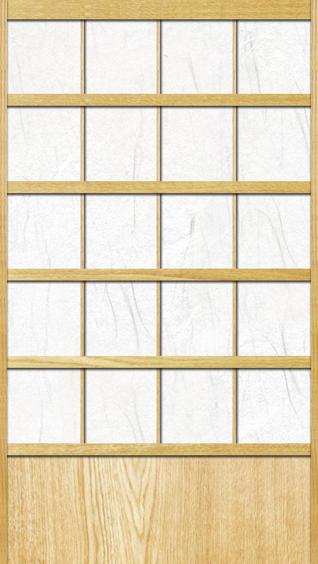 障子 iPhone5壁紙