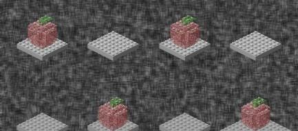 林檎のブロック iPhone5壁紙
