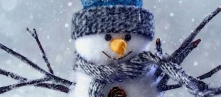 雪だるま iPhone6壁紙