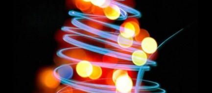 ネオンのクリスマスツリー iPhone6壁紙