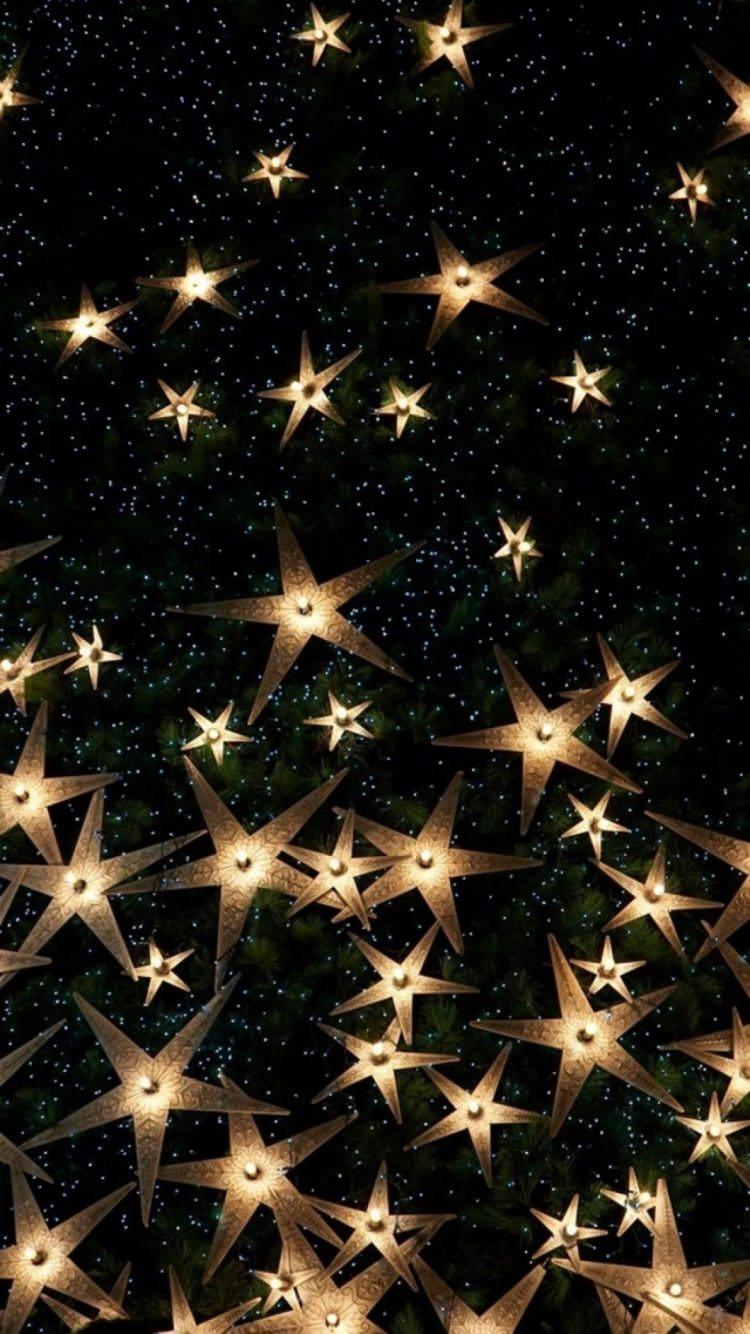 星型のキラキラ iPhone6壁紙