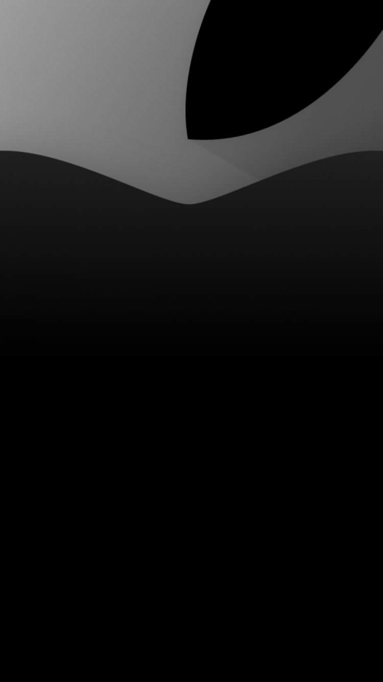 シックなアップルロゴ iPhone6壁紙