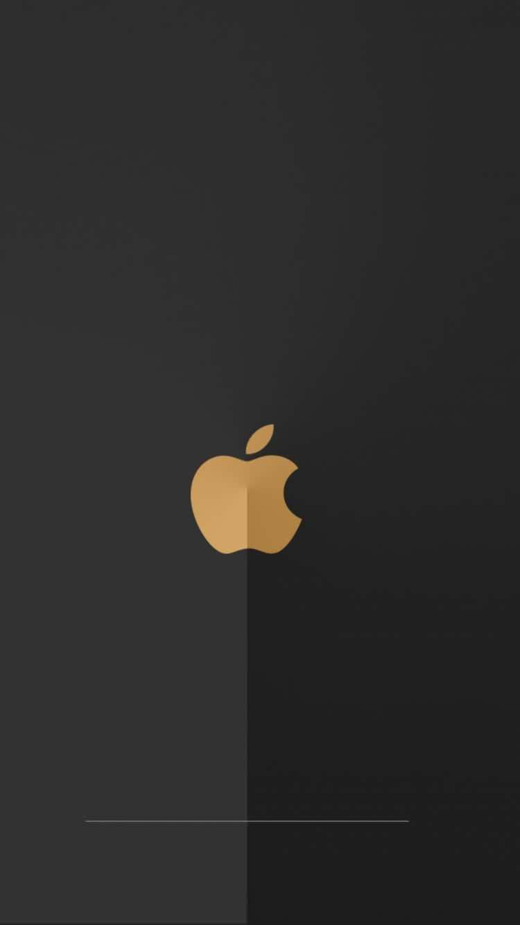 折れ線の入った黒のiPhone6壁紙