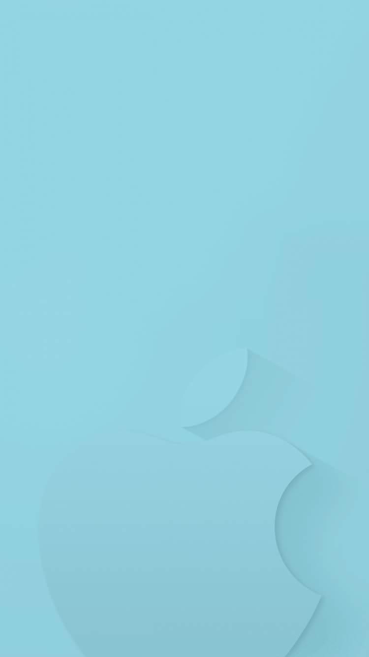 シンプルな水色 iPhone6壁紙