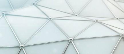 ホワイトポリゴン iPhone6壁紙